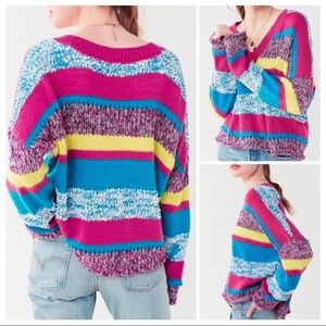 Urban Outfitters Textured Striped Retro Sweater M